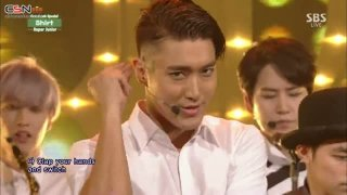 Shirt; Mamacita (Inkigayo - Comeback Stage - 140831) - Super Junior