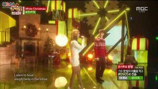 White Christmas (Music Core Special Stage - 141220) - Hyolyn; Jooyoung