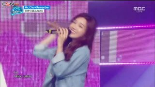Mr. Chu; Remember (Music Core 500th Special Live) - A Pink; Oh My Girl