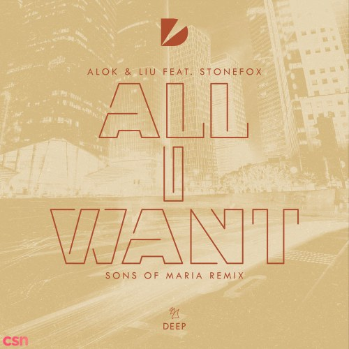 All I Want (Sons Of Maria Extended Remix)